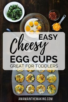 Easy Cheesy Egg Cups - Toddler meals - Breakfast