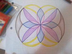 """Mandala"" dibujo. Fibra, lápices acuarelables."
