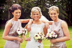 Bride wears W976 and her bridesmaids wear Audrey