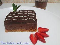 Una diabética en la cocina: Tarta de queso y chocolate apta para diabéticos