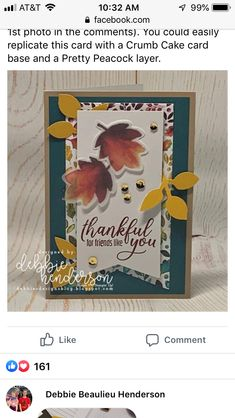 Thanksgiving Projects, Thanksgiving Cards, Scrapbooking, Scrapbook Cards, Stampin Up Paper Pumpkin, Pumpkin Cards, Stamping Up Cards, Fall Cards, Jpg