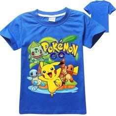 Stylish Pokemon children T Shirts - Black and Blue