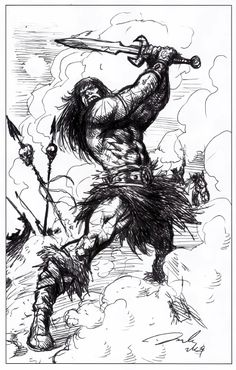 Conan: The Weight of the Crown by Darick Robertson. Robertson was born to draw Conan. Alex Chung, Conan The Barbarian, The Crown, Comics, Drawings, Art, Pirates, Art Background, Kunst