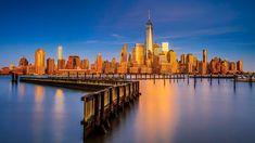Lower Manhattan skyline with One World Trade Center and Freedom Tower, New York City, USA, e8f7f0f410a6223c9e681a63c0e8d81f