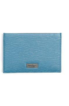 SALVATORE FERRAGAMO 'New Revival' Card Case. #salvatoreferragamo #bags #leather