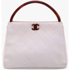 Pre-owned Chanel White Diamond Quilted Vintage Clutch ($953) ❤ liked on Polyvore featuring bags, handbags, clutches, clutch-bags, white, chanel purses, white handbags, white purse, white quilted handbag and vintage purse