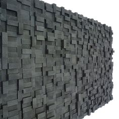 Wall Sculpture - Black Midnight Wood Blocks