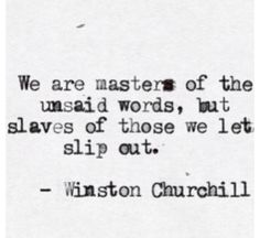 Words.. Churchill