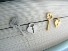 Cute mismatch Key and Heart Lock Earrings , Love Key, Wedding gift ideas post 925 sterling silver post valentines gift gifts idea by Goodafter6 on Etsy https://www.etsy.com/hk-en/listing/228281278/cute-mismatch-key-and-heart-lock