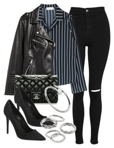 """""""#13926"""" by vany-alvarado ❤ liked on Polyvore featuring Topshop, H&M, Chanel, Alexander Wang, Apt. 9 and Cartier"""