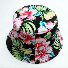2016 Fashion Floral Fishing Hat For Women More Color Design Print Floral  White Bucket Hat Women d4cbbe1fcd7b