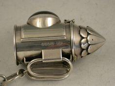 victorian tape measures   Victorian Novelty Silver 'Police Bullseye Lantern' Sewing Etui ...