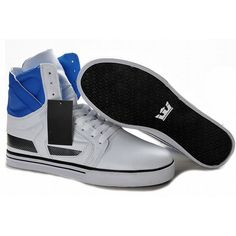 Supra Skytop II High Tops White/Blue Men's