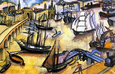 The Port of Bordeaux André Lhote - 1911