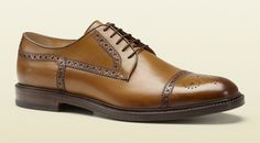 Brown Lace-Up Wingtips from Gucci Repinned by www.silver-and-grey.com