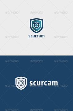 Security Camera Logo . A simple and excellent logo template suitable for a security, cctv, camera store, video security, etc. Features: - Vector format - File format : EPS, PDF and SVG in RGB - Easy editable scale and color - Note.txt for free font link Created: 5 February 14 Graphics Files Included: Vector EPS Layered: No Resolution: Resizable Tags alarm, camera, cctv, hidden camera, lens, lock, security, shield, store, system, video security