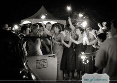 #wedding #send off #sparkler #getaway car