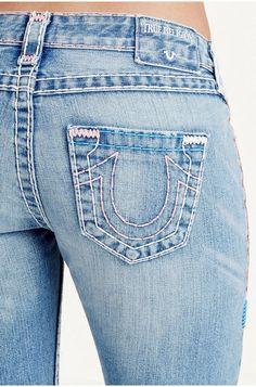 7d167d1b9 True Religion Jeans Low Rise Faux Dirt & Ripped Billie Super T Straight Jean  32 #TrueReligion