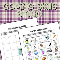 Coping Skills Bingo Game for Anger (2 different versions!) - One-Stop Counseling Shop - TeachersPayTeachers.com