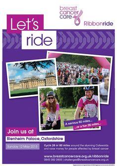 Breast Cancer Care Ribbonride 2013 poster