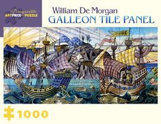 Pomegranate Jigsaw - Galleon Tiles by William de Morgan (1000 pieces)