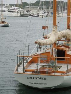 Encore, classic wooden yacht