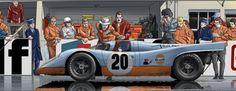 Dies ist nicht irgendein Bildroman, sondern ein Tribut an Steve McQueen und ein Vermächtnis für alle Autorennen-Liebhaber und alle Fans des legendären Porsche 917, Ferrari 512, und vieler anderen schönen Autos. http://mcqueenlemans.com/