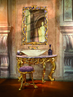 Crafted and designed according to the ancient Florentine techniques, Baldi classic furnitures give shape to dreamlike interiors Riccioli consolle in amethyst and gold plated bronze Luxury Interior, Interior Design, Classic Artwork, Classic Furniture, My Dream Home, Decorative Accessories, Amethyst, Bronze, Villa