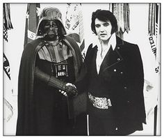 Darth Vader and Elvis. there is too much awesome in this picture