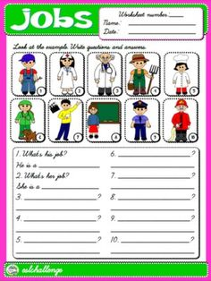 JOBS WORKSHEET 3 (AVAILABLE IN B