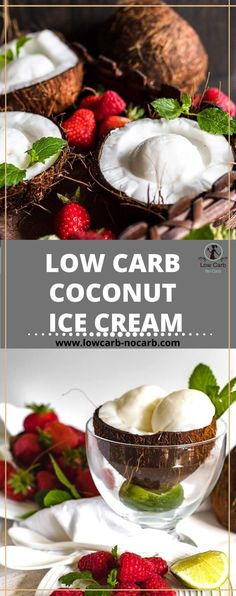 Easy to make, this Sugar-free Keto Coconut Ice Cream recipe is not only gluten-free and egg free but also a perfect creamy no churn low carb ice cream with homemade Coconut milk. Easy to make, this Sugar-free Keto Coconut Ice Cream recipe is not only gluten-free and egg free but also a perfect creamy no churn low carb ice cream with homemade Coconut milk. All of our Frozen Section is super yummy and worth looking at. Whole 30 Recipes, Sweet Recipes, Real Food Recipes, Easy Recipes, Dessert Recipes, Healthy Recipes, Sugar Free Desserts, Sugar Free Recipes, Low Carb Desserts