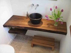 Rustikale badezimmer ~ Rustikale badezimmer holz waschbecken idee ähnliche tolle projekte