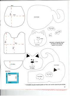 molde jogo de banheiro em tecido - Bing Imagens