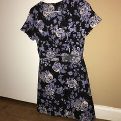 Floral Mini Slit Dress