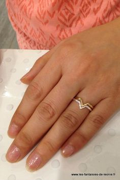 Bague argent massif triangle