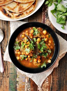 Chickpea Curry (Chole) - Fuss Free Cooking