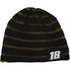 NASCAR Chase Authentics Kyle Busch Happy Hour Reversible Beanie - Black/Gold by Football Fanatics. $17.95. Chase Authentics Kyle Busch Happy Hour Reversible Beanie - Black/GoldImported72% Acrylic/28% WoolApplique logo patchesOfficially licensed NASCAR productReversible double-layered beanieOne size fits mostLoose weave results in subtle stripe pattern72% Acrylic/28% WoolReversible double-layered beanieApplique logo patchesLoose weave results in subtle stripe patternOne...