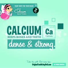Make calcium an important part of your diet as it keeps teeth and bones strong! #DeltaDental