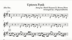 Uptown Funk - Mark Ronson ft. Bruno Mars (Saxophone Sheet Music)