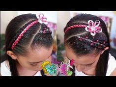 PEINADO INFANTIL/ DIADEMA CON ENCINTADO Y PEDRERÍA/ Peinados Rakel 35 - YouTube Hair And Nails, Diana, Braids, Hairstyle, Beauty, Youtube, Ideas Para, Fashion, Up Dos