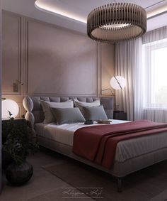 Design and visualization bedroom in Moscow. on Behance