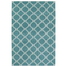 Cozy Toes Turquoise Rectangular: 2 Ft. x 3 Ft. Rug