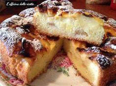 Torta di mele e crema pasticcera con farina di riso