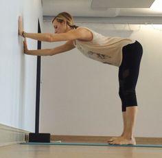 Yin Yoga at the Wall - Downdog at Wall Prep