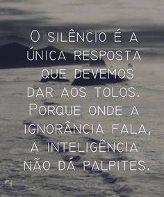 Entendeu meu silêncio?