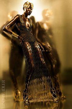 Golden Goddess Editorial for Idol Magazine by Lindsay Adler