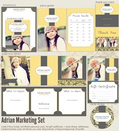 Adrian Premade Photography Marketing Set Templates