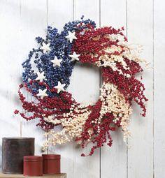 Americana Berry Decorative Wreath