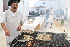 Festival da Sardinha → Setúbal  From June 21st to July 6th, many restaurants from the city of Setubal promote special menus where sardines have the main role, being cooked and served in many different ways.  Photo source: bit.ly/1jfKJ5k