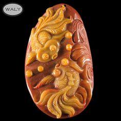 Carved Golden Fish Multi Color Agate Bead   eBay